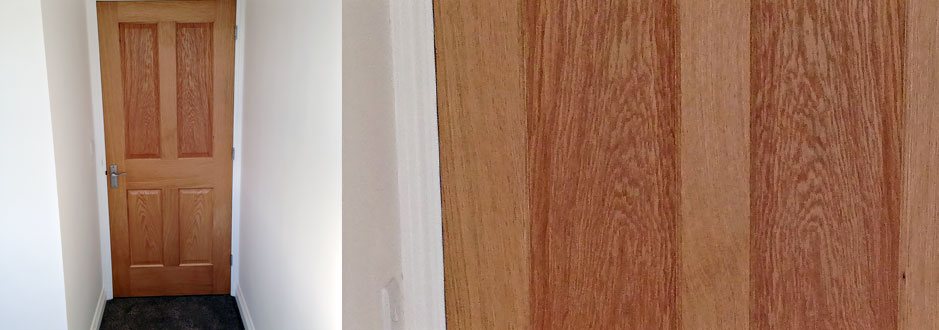 T&J painting solutions treating oak door