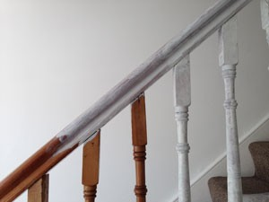 t&j painting solutions stain blocking rails in London