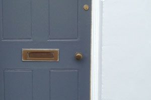 Painting exterior masonry walls, windows and the door