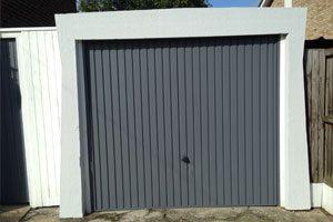 Exterior garage door painting
