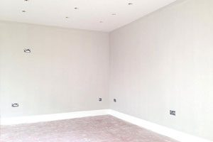 Painting the office, Chartham, Kent