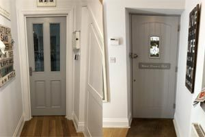 Painting internal doors with Dulux waterbased satin paint