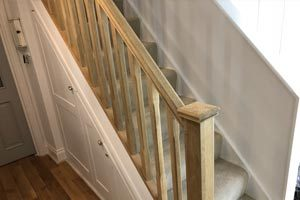 Refurbishing oak railings in Canterbury, Kent