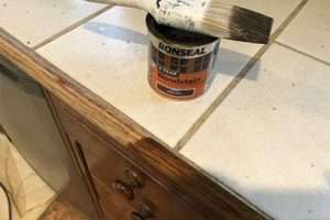 kitchen unit re-staining services in Kent