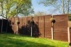 Timber fence panels spray