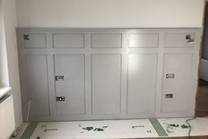 Wall panel painting in Kent